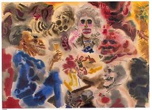 George Grosz, Ghosts, 1934